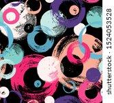 seamless dots modern pattern.... | Shutterstock .eps vector #1524053528