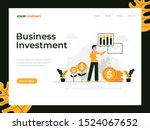 business investment flat vector ...