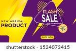 flash sales discounts in text...   Shutterstock .eps vector #1524073415