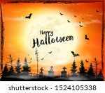 scary halloween background with ...   Shutterstock .eps vector #1524105338