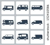 vector vans  side view  icons...   Shutterstock .eps vector #152410586