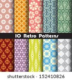 retro patterns collection set 1 ... | Shutterstock .eps vector #152410826