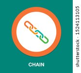 vector chain symbol  ... | Shutterstock .eps vector #1524113105