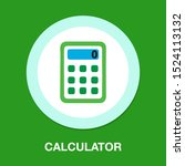 vector calculator symbol  ... | Shutterstock .eps vector #1524113132