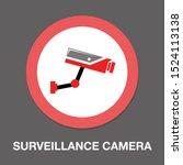 surveillance camera... | Shutterstock .eps vector #1524113138
