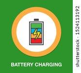 vector battery charging   power ... | Shutterstock .eps vector #1524113192