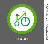 vector bicycle illustration  ... | Shutterstock .eps vector #1524113222