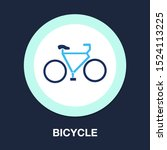 vector bicycle illustration  ... | Shutterstock .eps vector #1524113225