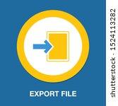 vector export file icon  ... | Shutterstock .eps vector #1524113282