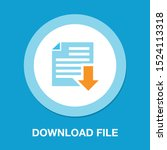 vector download file icon  ...   Shutterstock .eps vector #1524113318
