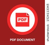 download pdf document icon  ... | Shutterstock .eps vector #1524113345