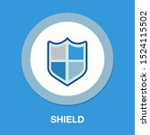 vector security shield emblem ... | Shutterstock .eps vector #1524115502