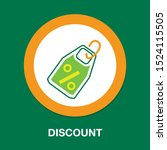discount percent sign  vector... | Shutterstock .eps vector #1524115505
