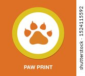 pets icon  vector paw print  ...   Shutterstock .eps vector #1524115592