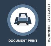 vector print icon  printing... | Shutterstock .eps vector #1524115595