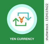yen sign icon  currency sign  ... | Shutterstock .eps vector #1524115622
