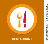 knife and fork icon  cutlery... | Shutterstock .eps vector #1524115652