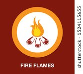 vector fire flames sign... | Shutterstock .eps vector #1524115655