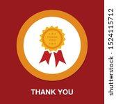 thank you ribbon    thank you... | Shutterstock .eps vector #1524115712