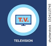 tv icon  vector television... | Shutterstock .eps vector #1524115745