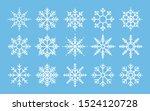 Snowflakes Big Set Icons. Flak...