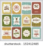 collections of bakery design... | Shutterstock .eps vector #152412485