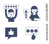 user reviews  feedback  rate...   Shutterstock .eps vector #1524136985