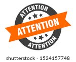 attention sign. attention... | Shutterstock .eps vector #1524157748