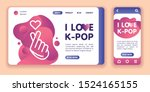 i love k pop web banner and...
