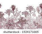 seamless border vintage... | Shutterstock .eps vector #1524171005