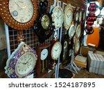 A Roadside Stall Of Wall Clock...