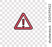 caution icon sign and symbol.... | Shutterstock .eps vector #1524195422