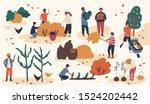 autumn season harvest gathering ... | Shutterstock .eps vector #1524202442