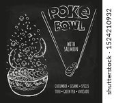 hawaiian poke tuna bowl with...   Shutterstock .eps vector #1524210932