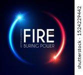 fire and light design. versus... | Shutterstock .eps vector #1524229442