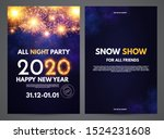 happy new 2020 year flyer... | Shutterstock .eps vector #1524231608