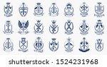 weapon logos big vector set ... | Shutterstock .eps vector #1524231968