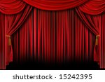 red stage theater drapes with... | Shutterstock . vector #15242395