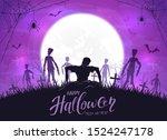 dark silhouette sticks out of... | Shutterstock .eps vector #1524247178