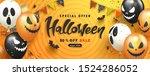 halloween sale promotion poster ... | Shutterstock .eps vector #1524286052