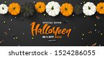 halloween sale promotion poster ... | Shutterstock .eps vector #1524286055