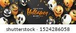 halloween sale background with... | Shutterstock .eps vector #1524286058