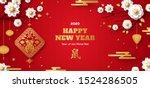 horizontal banner with white... | Shutterstock .eps vector #1524286505
