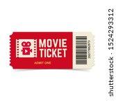 movie ticket. vector red cinema ...   Shutterstock .eps vector #1524293312