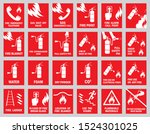 Set Of Fire Safety Signs....