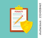 Penalty Document Icon With...