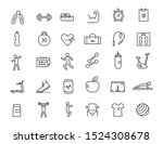 set of linear fitness icons....   Shutterstock .eps vector #1524308678