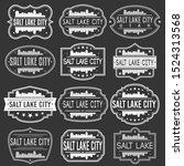 salt lake city utah skyline.... | Shutterstock .eps vector #1524313568
