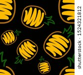 brush fruits pattern in...