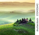 tuscany  farmhouse and... | Shutterstock . vector #152432642